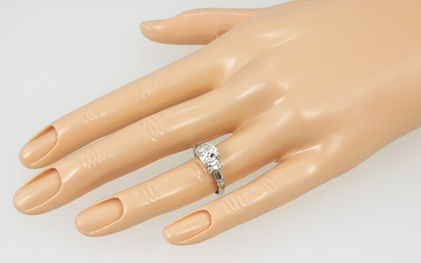 Art Deco Diamond Engagement Ring  3