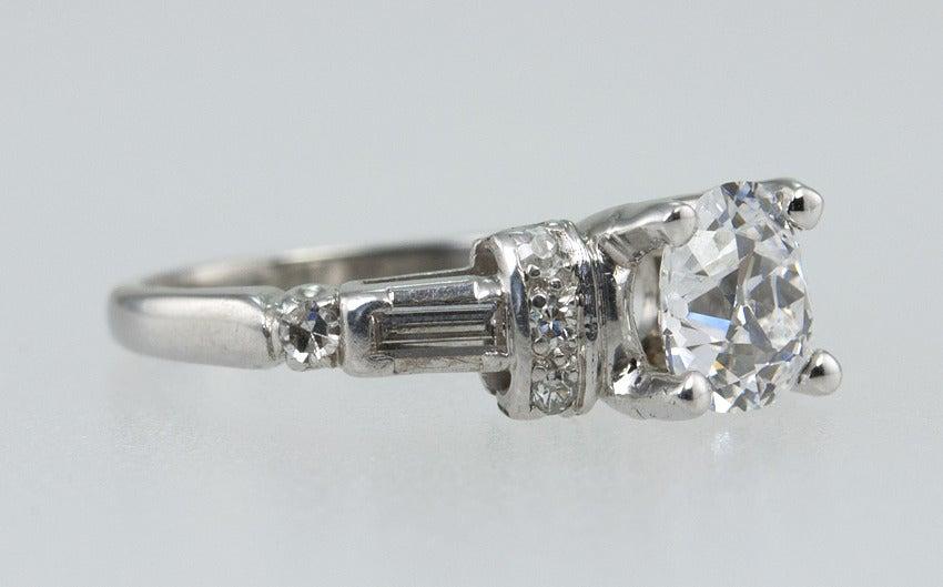 Art Deco Diamond Engagement Ring  5