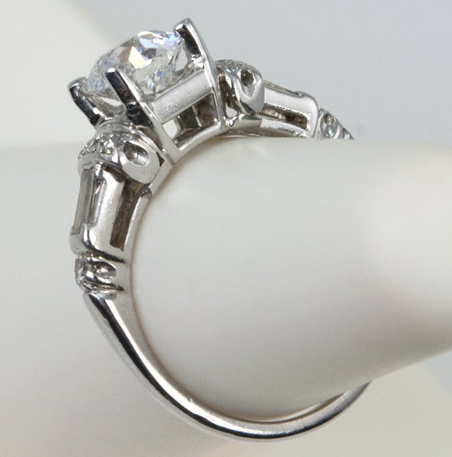 Art Deco Diamond Engagement Ring  For Sale 2