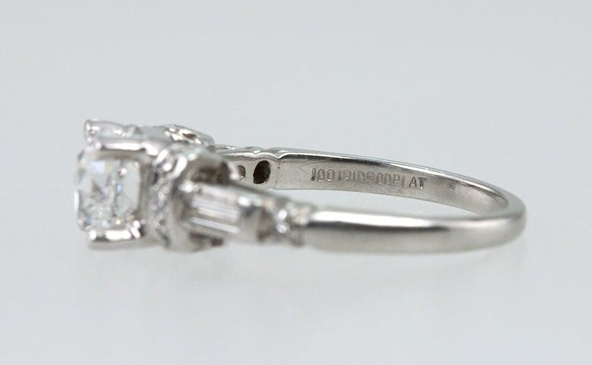 Art Deco Diamond Engagement Ring  9