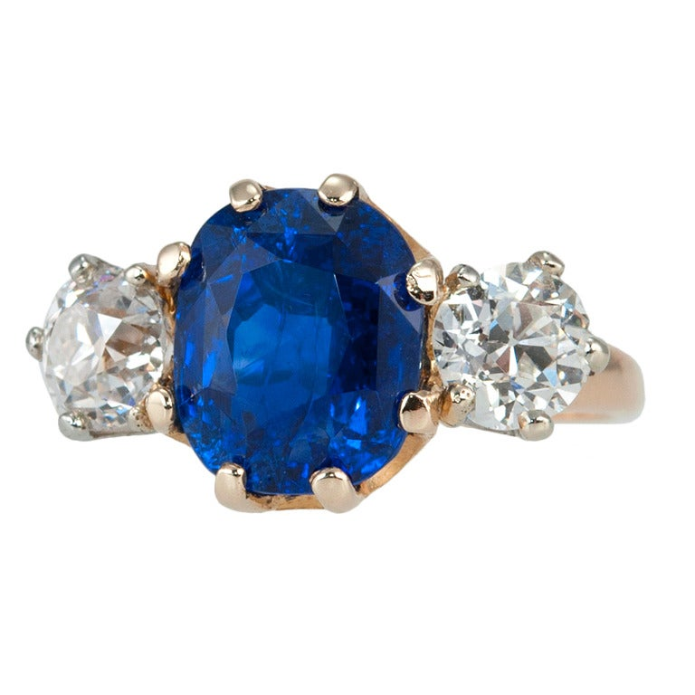 Tiffany Victorian Sapphire Diamond Ring