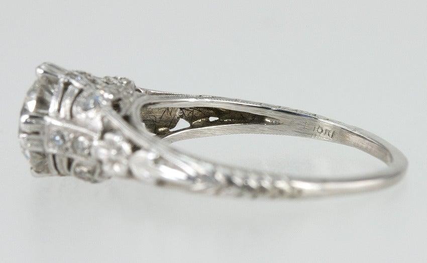 Edwardian 1.19 Carat Old European Cut Diamond Ring 10