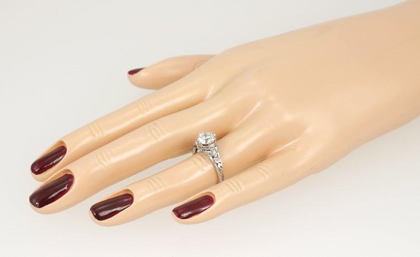 Edwardian 1.19 Carat Old European Cut Diamond Ring 3