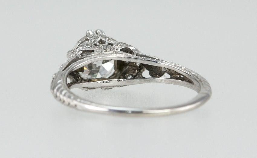Edwardian 1.19 Carat Old European Cut Diamond Ring 7