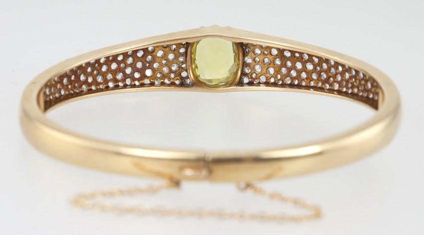 Victorian Citrine Diamond Bangle For Sale 6