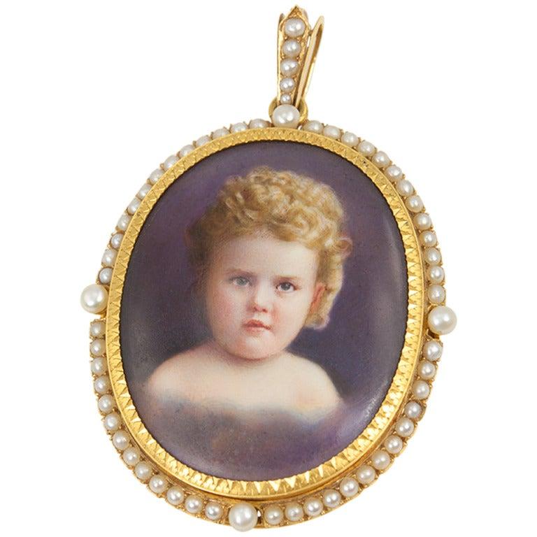 portrait pendant for sale at 1stdibs