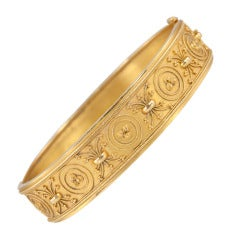 Etruscan Revival Bangle Bracelet