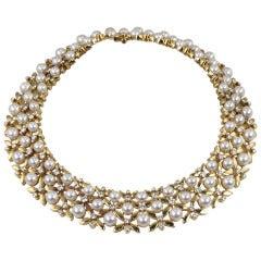 Tiffany Collar in Pearl and Diamonds