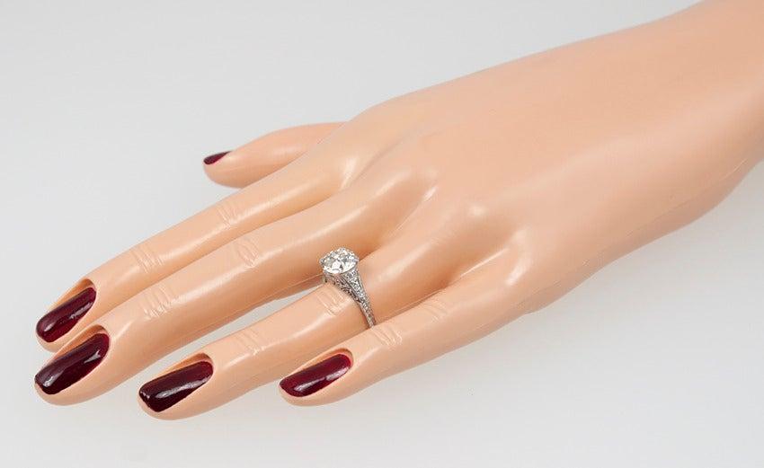 2.00 Carat Art Deco Engagement Ring 3
