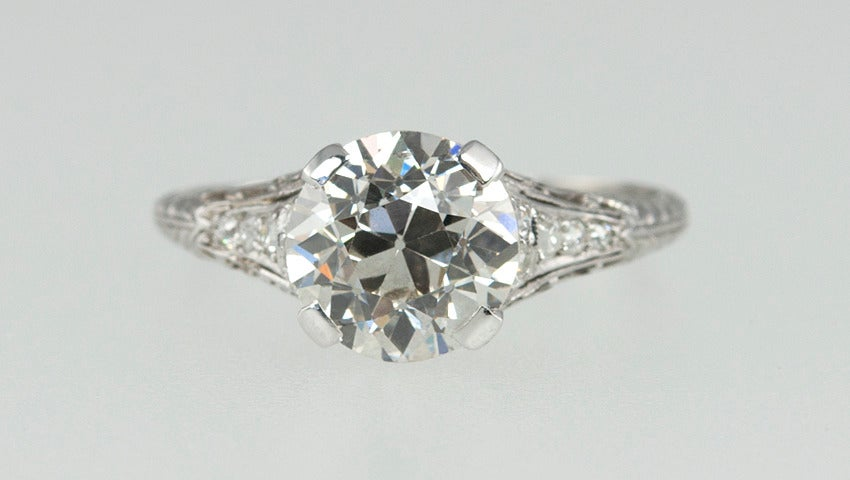 2.00 Carat Art Deco Engagement Ring 5