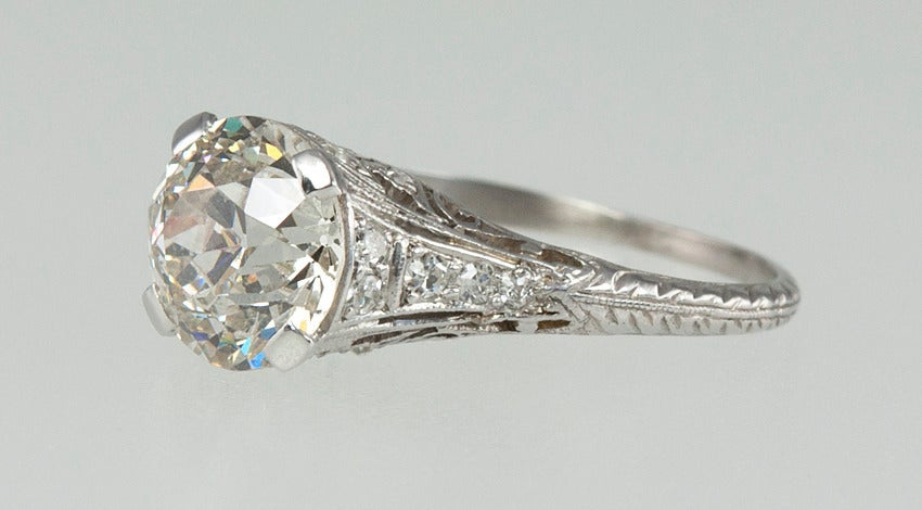 2.00 Carat Art Deco Engagement Ring For Sale 1