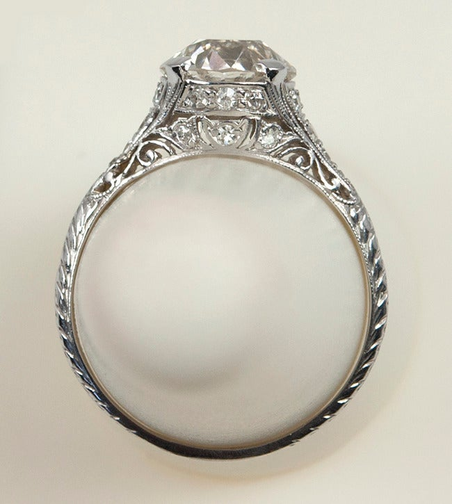2.00 Carat Art Deco Engagement Ring For Sale 3