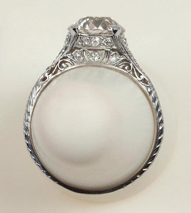 2.00 Carat Art Deco Engagement Ring 8