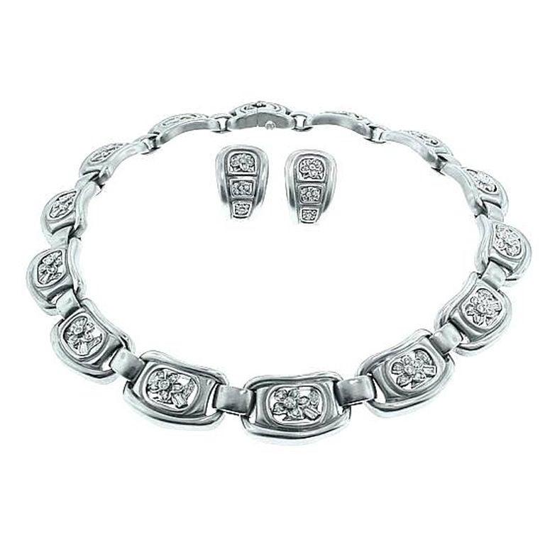 white diamond windows kieselstein cord platinum diamond windows necklace earrings set at