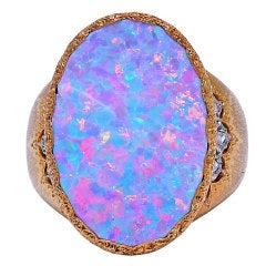 BUCCELATTI Opal and Diamond Ring
