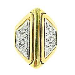 Marlene  Stowe  Diamond  Pyramid  Ring