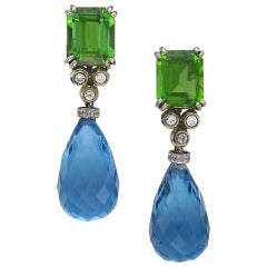 Sorab & Roshi Moldovite Dangle Earrings