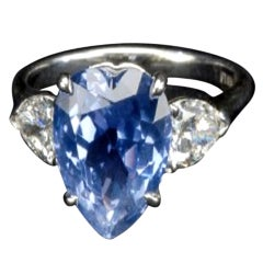 Heart Shaped Ceylon Sapphire Ring