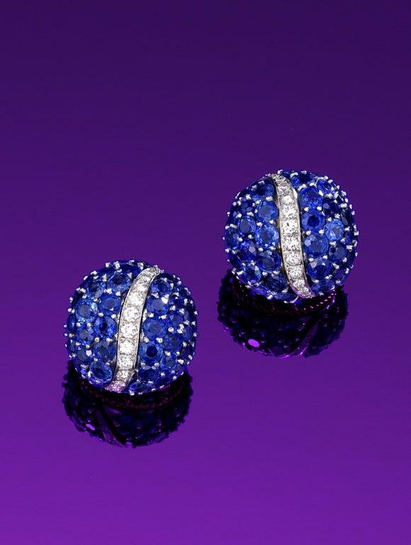 Sapphire and diamond earrings by Van Cleef & Arpels 2