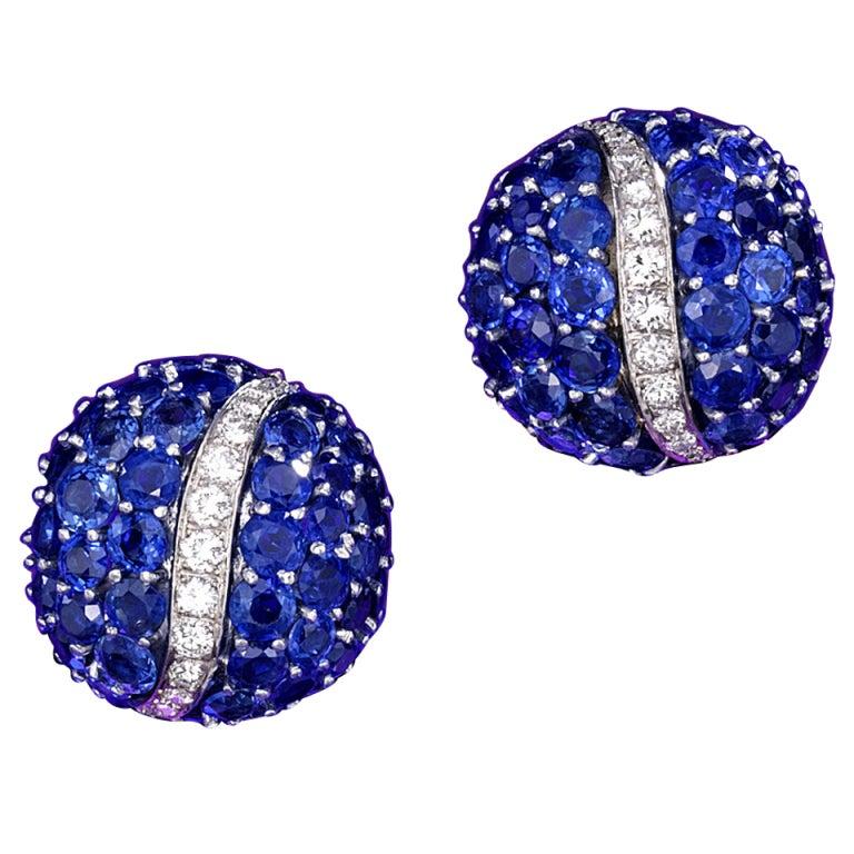 Sapphire and diamond earrings by Van Cleef & Arpels 1