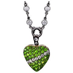 Antique Demantoid Pendant