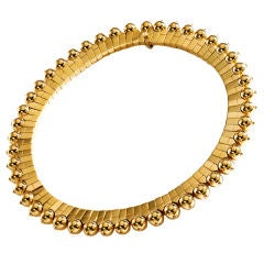 FRED PARIS Gold Flexible Choker Necklace