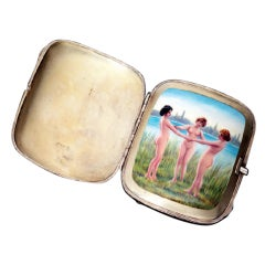 Sterling and Enamel Case