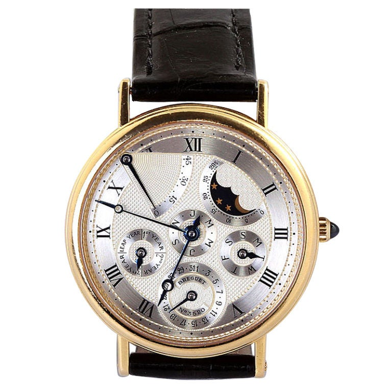 Breguet yellow gold Classique Complications Collection Wristwatch, 1990s