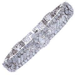 TIFFANY & Co. London Diamond Art Deco Bracelet