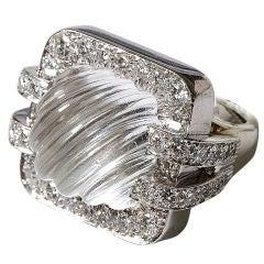 David Webb Rock Crystal Ring