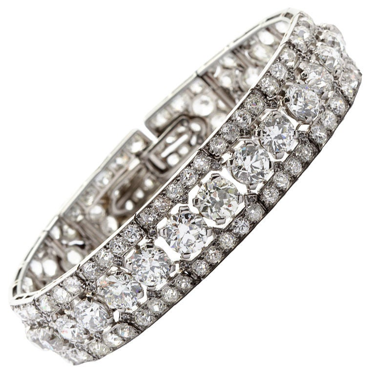 CARTIER PARIS Art Deco Diamond Bracelet 1