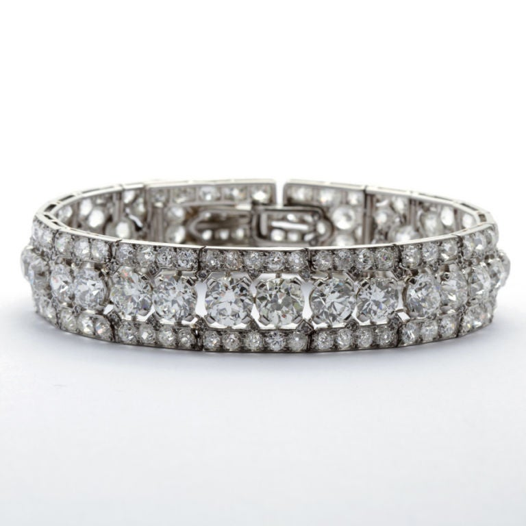 CARTIER PARIS Art Deco Diamond Bracelet 2