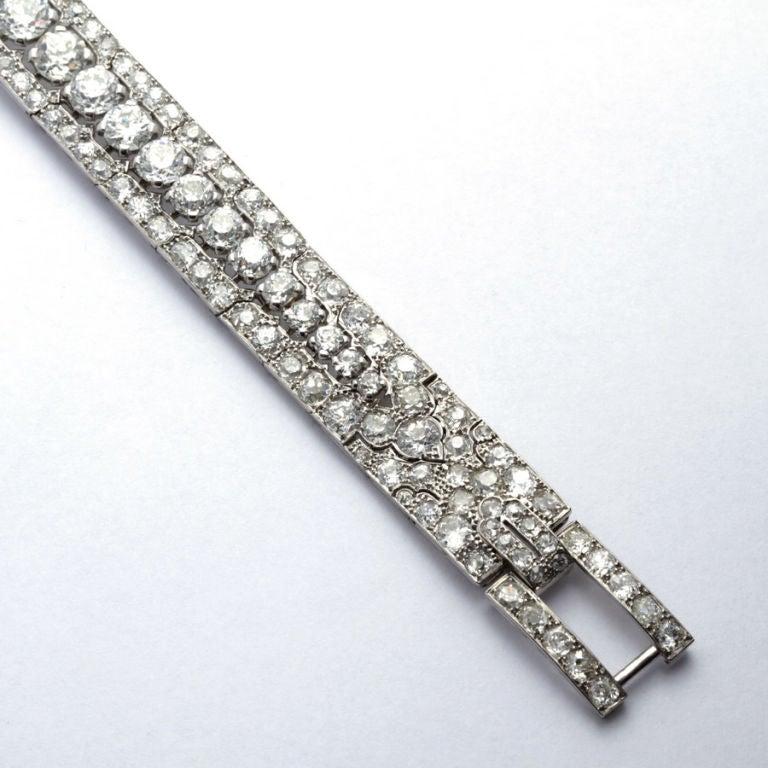 CARTIER PARIS Art Deco Diamond Bracelet 3