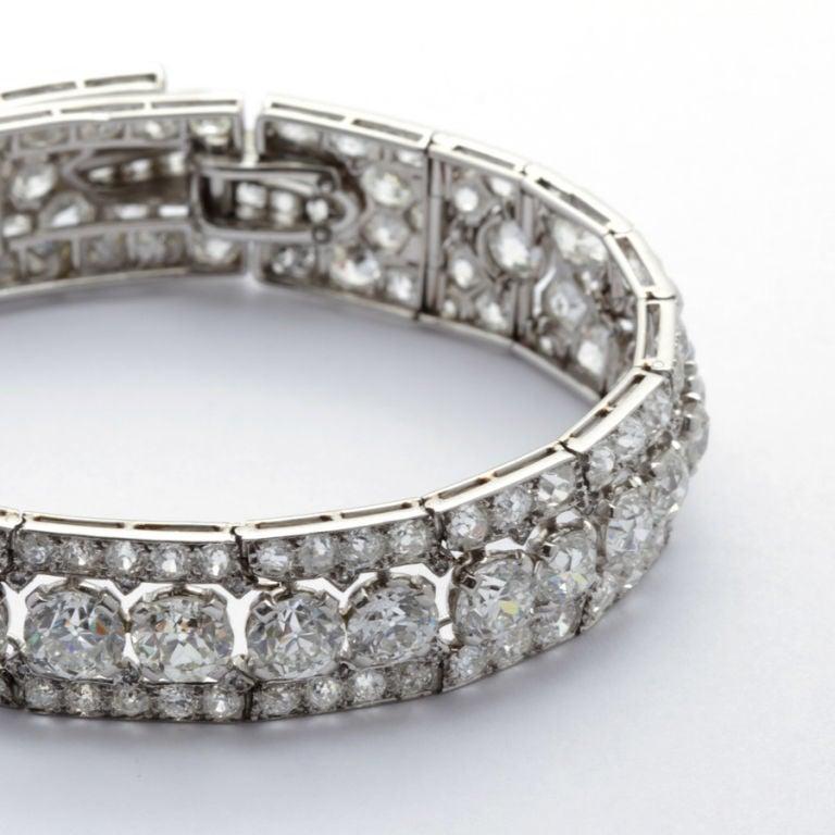 CARTIER PARIS Art Deco Diamond Bracelet 5