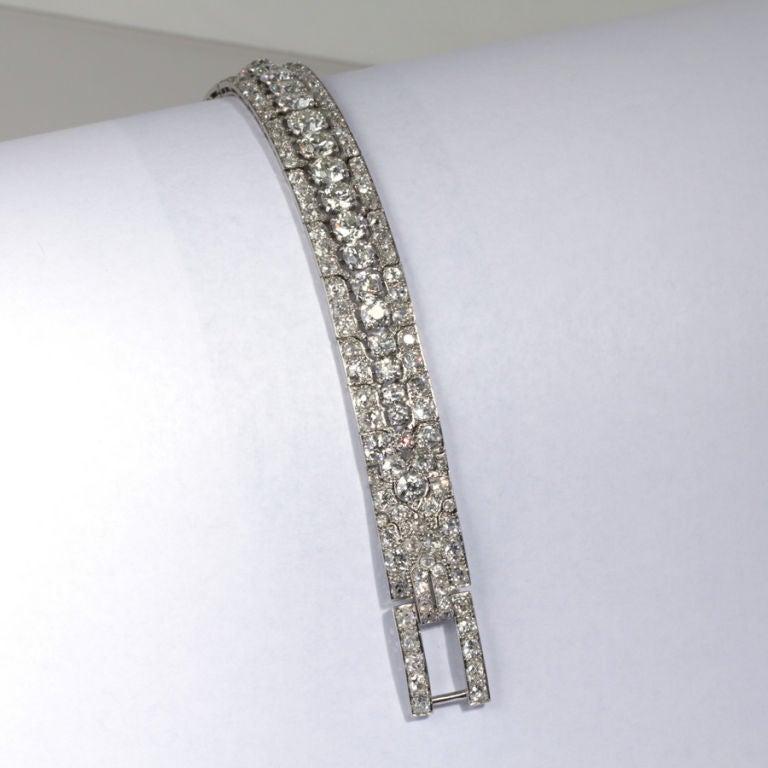 CARTIER PARIS Art Deco Diamond Bracelet 6