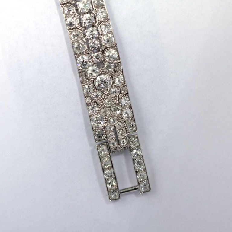 CARTIER PARIS Art Deco Diamond Bracelet 7