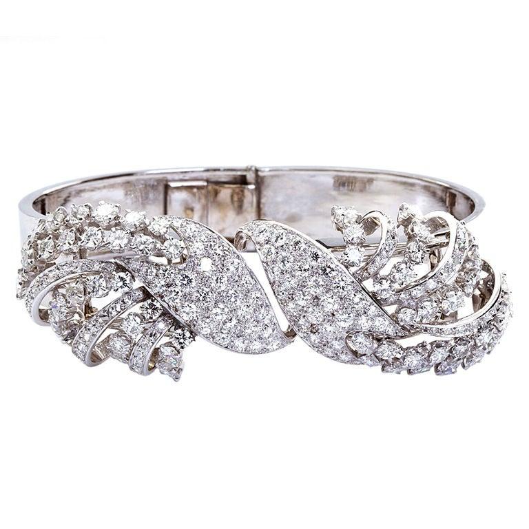 Vintage Diamond Convertible Bangle Brooches