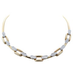DAVID WEBB Diamond Gold Necklace