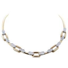 David Webb Diamond Gold Necklace