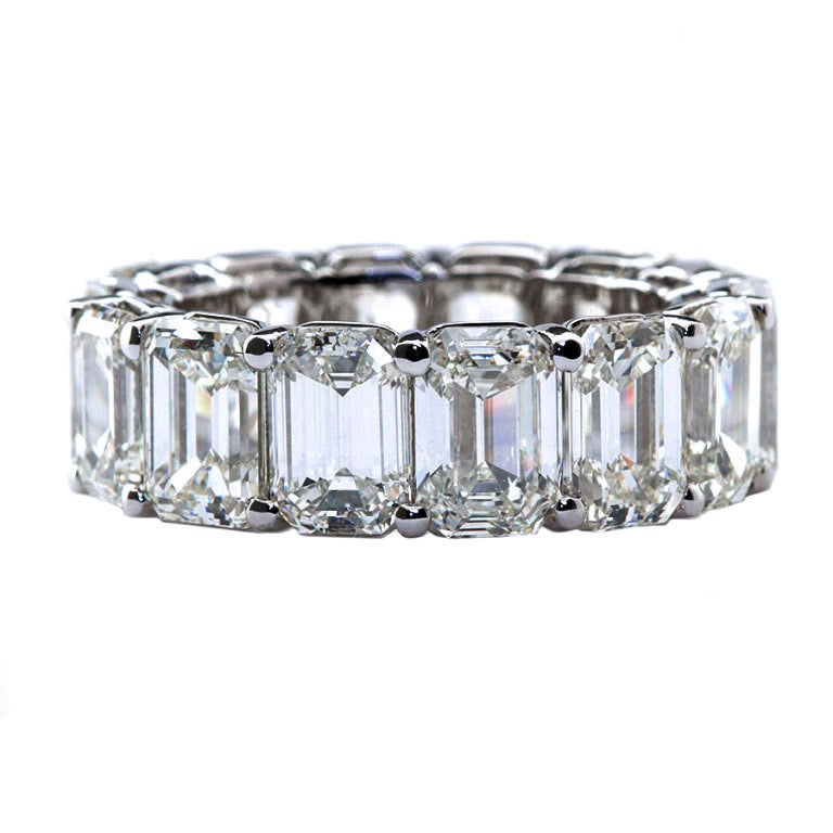 important emerald cut eternity band at 1stdibs