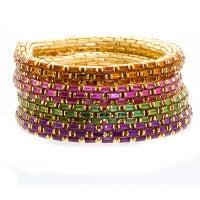 Multi-gem Link Bracelet Set