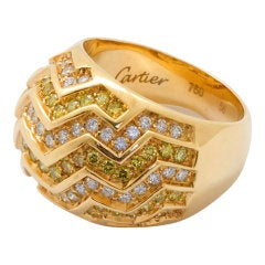 Cartier Diamond Gold Boulé Dome Ring