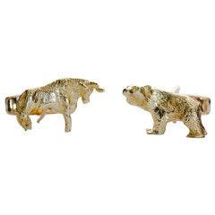 Bear & Bull Cufflinks