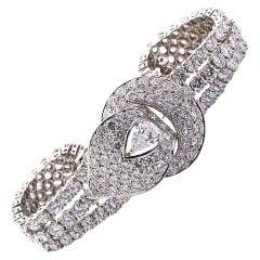 M. GÉRARD Diamond Pear Buckle Bracelet