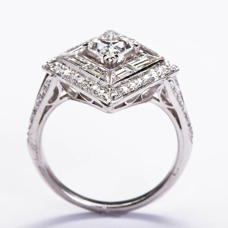 products ring doyle diamond engagement lozenge vintage