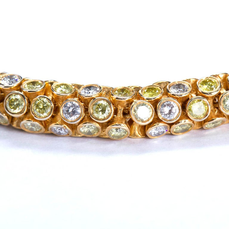 Yellow and White Diamond Rope Bracelet 2