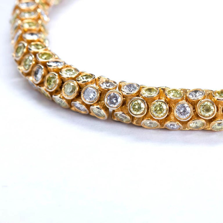 Yellow and White Diamond Rope Bracelet 3