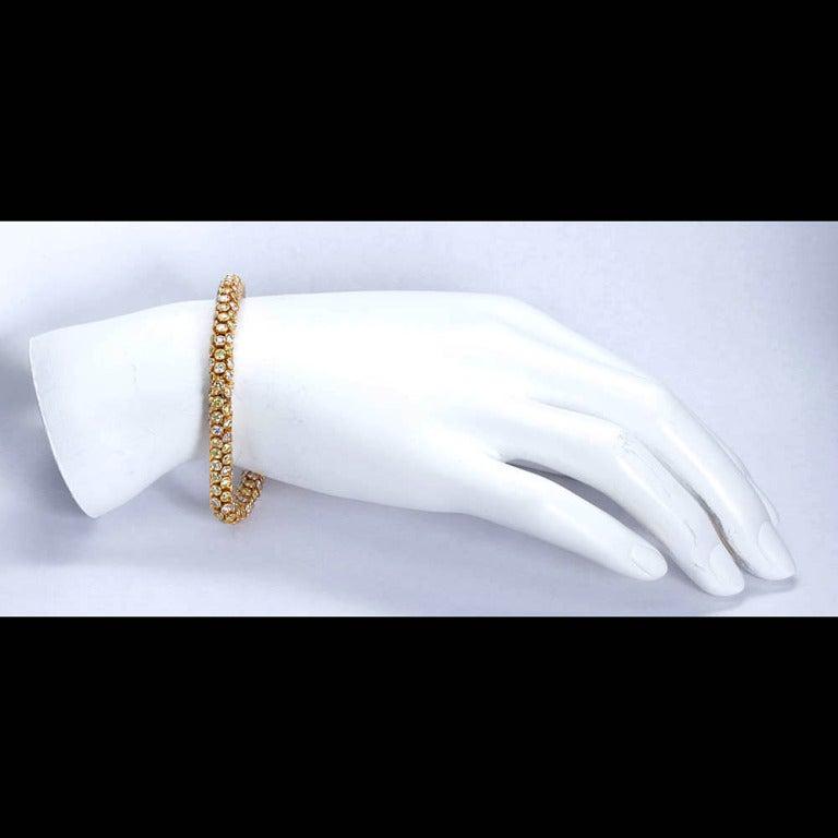 Yellow and White Diamond Rope Bracelet 6