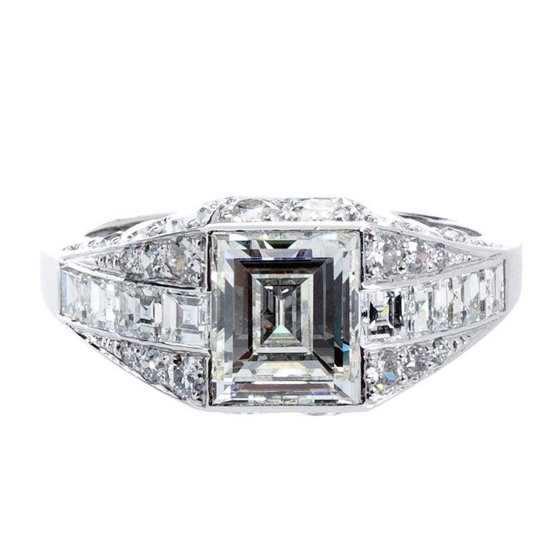 Art Deco Step Cut Diamond Ring At 1stdibs. 40 Carat Engagement Rings. Head Engagement Rings. 3d Printed Rings. Symmetrical Engagement Rings. Everyday Rings. New York Yankees Wedding Rings. Nine Diamond Wedding Rings. 15000 Dollar Engagement Rings