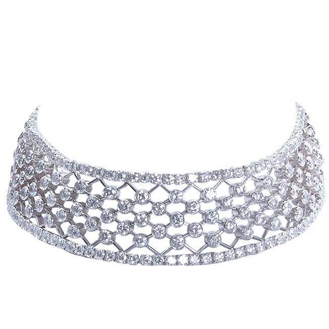 CARTIER Diamond Lattice Choker Necklace 1